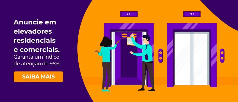 Anuncie em elevadores residenciais e comerciais. Garanta um índice de atenção de 95%